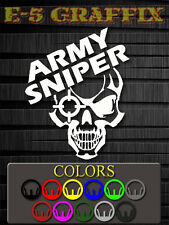 US Army Sniper Vinyl Decal Beret Special Forces Recon USMC Navy USAF