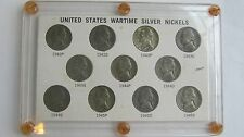 U.S. WARTIME SILVER NICKELS 1942-1945 Collection Circulated