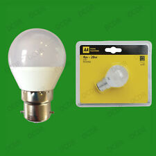 2x AA 4W BC B22 LED Mini Golf Ball G45 Instant On Round Light Bulb Lamp