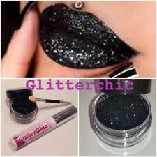 Glitter Lips Black Hot Lipstick Loose Glitter by GlitterChic,Glam 10g Large Pot