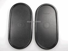 2 X NEW TUPPERWARE MODULAR MATES OVAL SEAL LID COVER SET BLACK
