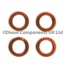 PEUGEOT 306 HATCHBACK 1.9 D DIESEL INJECTOR WASHERS / SEALS PACK OF 4