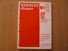 Manuale officina NT8097 Elettrico Schaltpläne Renault Master Modello dell'anno