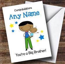 Grand frère asiatique Félicitations Nouveau Bébé Garçon personnalisé frère carte