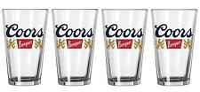 COORS BANQUET 4 BEER PINT GLASSES NEW
