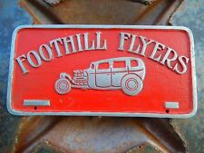 VTG Hot Rod Foothill Flyers ORIGINAL Custom Car Club Plaque LEADsled Speed Shop