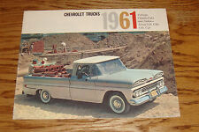 Original 1961 Chevrolet Truck Sales Brochure 61 Chevy Pickup Chassis-Cab Stakes