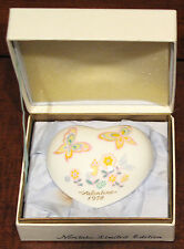 1978 Noritake Valentine's Day Heart/Paperweight Orig. Box Ltd. Edition of 1,000