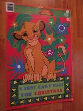 Vintage Eureka Lion King Christmas Presto-Stick Window Decor Made in USA