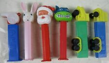 Lot of 6 Vintage Pez Containers Truck Whistle Turtle Santa Rabbit