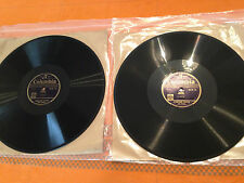 """HUGOPHONE SYSTEM (Two Voices) Learn """"FRENCH"""" 2x12"""" 78rpm 1930s DCX13/14 EX/NM"""
