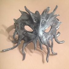 Leather art custom leather mask Cthulhu tenticle octopus steampunk gears