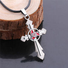 Naruto Cosplay Uchiha Madara Sharingan Cross Necklace Unisex Cosplay Pendant