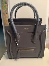 New European Designers Style  Gray Leather Shoulder Bag with Gold Hardwate