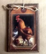 5 Wooden HANDCRAFTED Farm Rooster Ornaments/HangTags/BowlFillers/ORNIES SET1