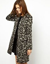 FRENCH CONNECTION FCUK stylish no buttons leopard coat NWOT $250