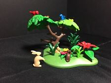 Playmobil Green Small Base w/ Small Tree 3015 5004 Birds Bunny Blooms Forest B2