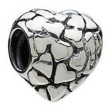 AUTHENTIC CHAMILIA 925 STERLING SILVER HEART OF HEARTS LOVE GA-24 CHARM BEAD NEW