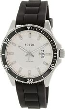Fossil Men's Wakefield FS5070 Black Silicone Quartz Watch