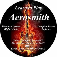 Aerosmith Guitar TAB Lesson CD 137 songs + backing tracks + MEGA BONUS!