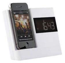 Kitsound KSXDOCKWH XDOCK 30 Pin Clock Radio Docking Station For iPhone 4S White