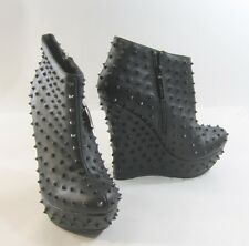 "Blacks SPIKE 5.5"" high wedge heel 1.5"" platform  ankle boot  -US WOMAN size  6"