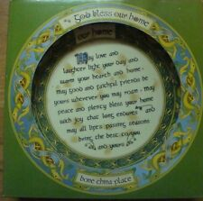 "IRELAND CLARA IRISH WEAVE GOD BLESS OUR HOME 4"" BONE CHINA PLATE"