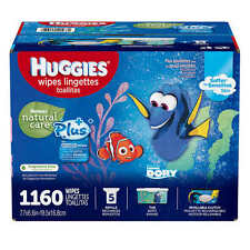 HUGGIES Natural Care® Plus Baby Wipes; 1,160 Ct. FREE CARRYING CASE