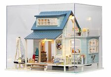 Kits Wood Dollhouse Miniature DIY House with Furniture+Cover Xmas Gift Caribbean