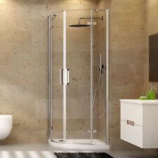 Box doccia 70x90 cristallo trasparente per piatti doccia semicircolare stondato