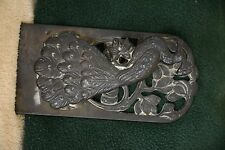 ANTIQUE ART DECO PEACOCK DESK PAPER BILL CLIP HOLDER PAPERWEIGHT HANG ON  WALL