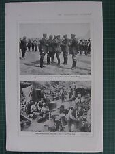 1917 WWI WW1 PRINT ~ IAN HAMILTON FRENCH OFFICERS MILITARY CROSS TURKISH LINES