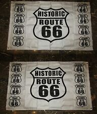 3x5 Historic Route 66 White 2 Faced 3-ply Wind Resistant Flag 3x5ft