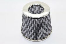 Twin Cone Universal Air Filter 3 ports W155*H130MM  70mm ID Neck Carbon