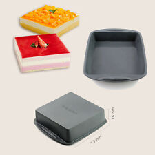 7.3×1.6 inch BIG Square Cake Pan Bread Chocolate Pizza Baking Tray Silicone Mold