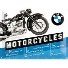 BMW Motorcycles 1923 - 1954 Blechschild Schild Blech Metall Tin Sign 30 x 40 cm