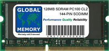 128MB PC100 100MHz 144-PIN SDRAM SODIMM MEMORY RAM FOR LAPTOPS/NOTEBOOKS