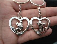 hot key ring Chain keyring lover gift cartoon mickey and Minnie mouse & heart AA