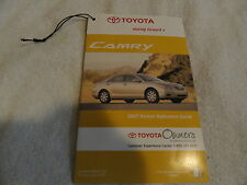 2007 Toyota Camry CD Owners Manual Supplement