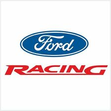 "4pcs FORD RACING LOGO SET DECAL STICKER M1 10"" - 25cm"