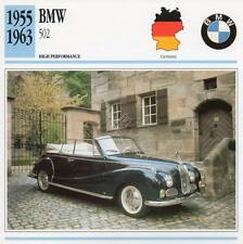 1955-1963 BMW 502 Classic Car Photo/Info Maxi Card