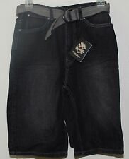 English Laundry Shorts w Belt Boy's Size 6 Black Denim  NWT $48