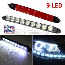 2pcs White 12V 9 LED Daytime Running Light DRL Car Fog Day Driving Lamp Lights