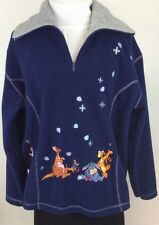 Disney Womens Eeyore Piglet Tigger Fleece Embroidered M Medium F70