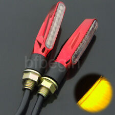 2X Red Motorcycle 9 LED Turn Signal Indicator Light Blinker Amber Lamp Universal