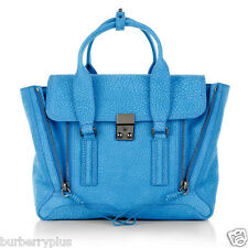 NEW 3.1 Phillip Lim Pashli Medium Satchel Handbag Crossbody Azure Blue