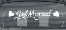 Just Married Wedding Car Window Banner Signs Sticker Decals Vinyl