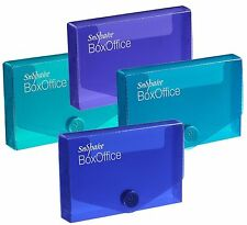 Snopake Strong Plastic Business Cards Storage Box Holder Wallet Colours - Pack 5