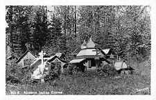 Real Photo by Robinson alaskan indian graves Antique Postcard L3111