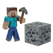 "Minecraft ~ Steve 3"" Action Figure Inc Accessories Series One"